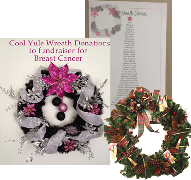 power Flower web deisgn, kendell hall and greg monck, donations to breast cancer fundraiser